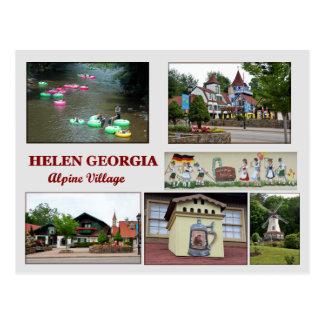 Hélène, carte postale de la Géorgie