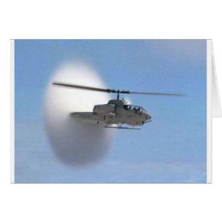 hélicoptère de cobra carte de vœux