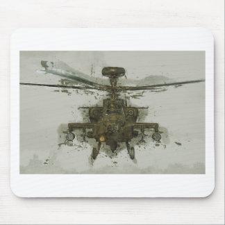 Hélicoptère de combat d'Apache Tapis De Souris