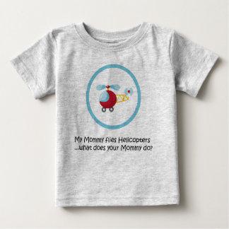 Hélicoptère de maman t-shirt pour bébé