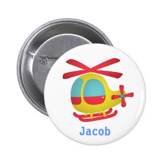 Hélicoptère mignon et coloré pour des enfants badge avec épingle