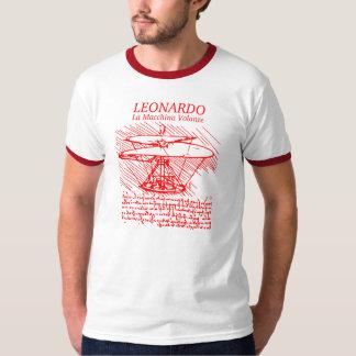 Hélicoptère rouge de Leonardo da Vinci T-shirt