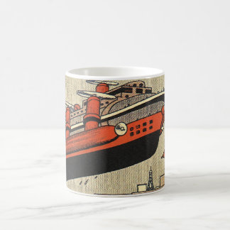 Hélicoptère vintage de bateau de croisière de la mug