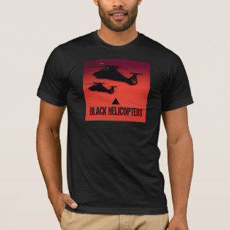 Hélicoptères noirs t-shirt