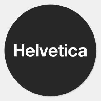Helvetica Adhésif Rond