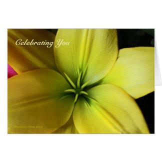 Hémérocalle : Carte d'anniversaire pour de bons