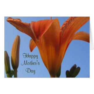 Hémérocalles de mère carte de vœux