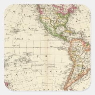 Hémisphère de l'ouest 13 sticker carré