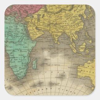 Hémisphère oriental 15 sticker carré