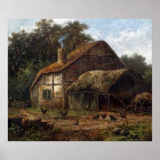 Hendrik Pieter Koekkoek a couvert la grange de Poster