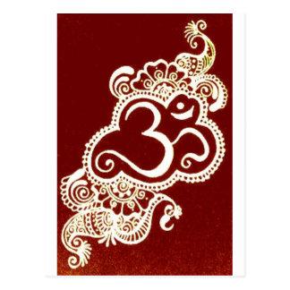 Henné de rouge de mehndi de l'Inde Carte Postale