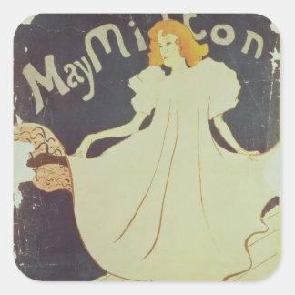 Henri De Toulouse-Lautrec | mai Milton, France Sticker Carré