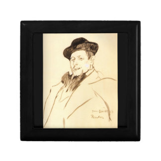 Henri Gabriel Ibels par Toulouse-Lautrec Petite Boîte À Bijoux Carrée