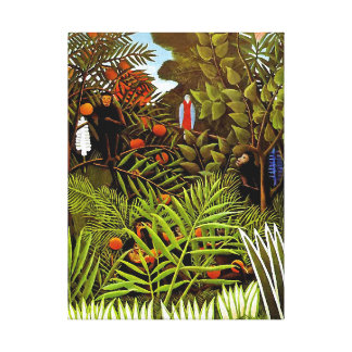Henri Rousseau - art exotique de jungle de paysage Toiles