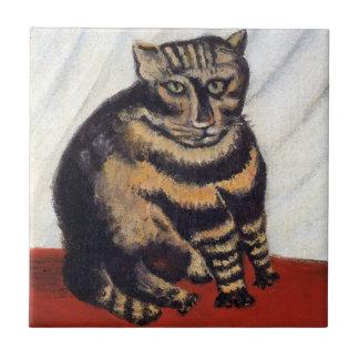 Henri Rousseau - le chat de tigre (Le Chat Tigre) Petit Carreau Carré
