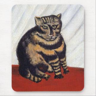 Henri Rousseau - le chat de tigre (Le Chat Tigre) Tapis De Souris