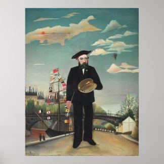 Henri Rousseau moi-même paysage 1890 de portrait Affiche