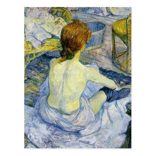 Henri Toulouse Lautrec - la CHROMATOGRAPHIE GAZEUS Carte Postale