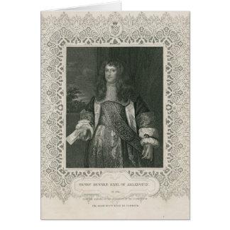 Henry Bennet, ęr comte d'Arlington Carte De Vœux