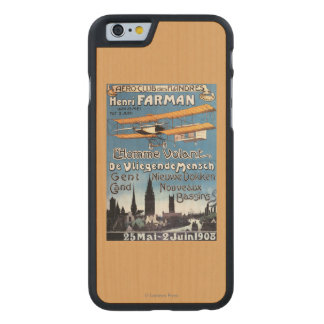 Henry Farman pilote l'affiche de promo d'homme de Coque Carved® iPhone 6 En Érable