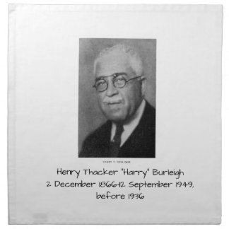 """Henry Thacker """"Harry"""" Burleigh Serviette En Tissu"""
