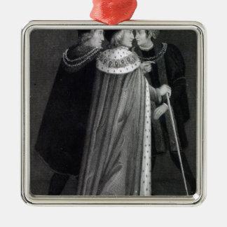 Henry VII Ornement Carré Argenté