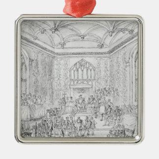 Henry VIII Montmorency de réception Ornement Carré Argenté