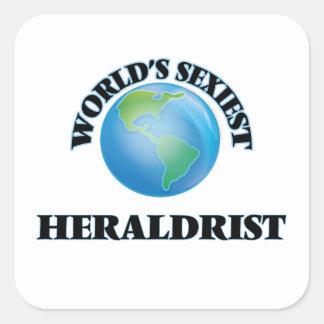 Heraldrist le plus sexy du monde sticker carré