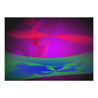 Herbe d océan de la terre invitations personnalisées