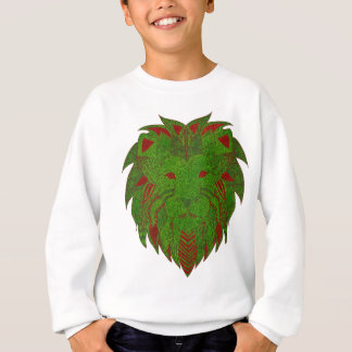 Herbe de lion rouge et verte sweatshirt