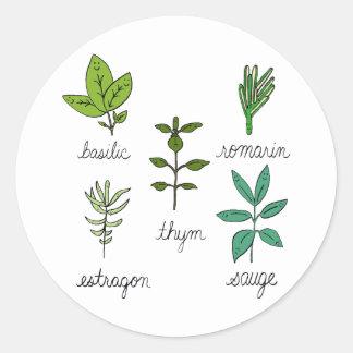 Herbes de Les Sticker Rond