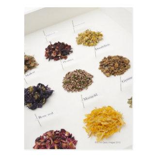 Herbes disposées cartes postales