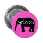 Herbivore - éléphant - rose pin's
