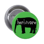Herbivore - éléphant - vert badges avec agrafe