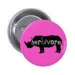 Herbivore - rhinocéros - rose badges