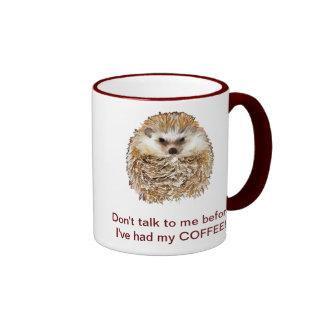 Hérisson de café mug ringer