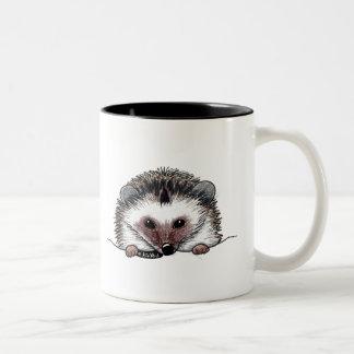 Hérisson de poche mug bicolore