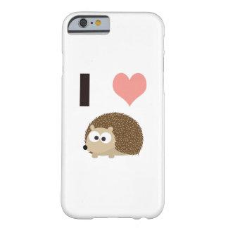 Hérisson mignon du coeur I Coque iPhone 6 Barely There