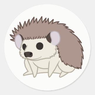 Hérisson pygméen domestique mignon sticker rond