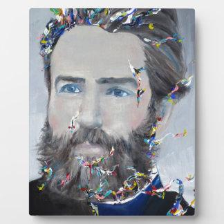 Herman Melville - portrait d'huile Plaque D'affichage