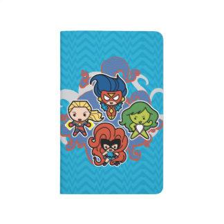 Héroïnes superbes de merveille de Kawaii Carnet De Poche