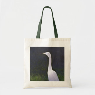 Héron blanc sac de toile