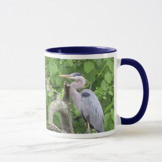 Héron de grand bleu tasses