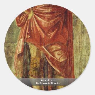 Héros antique par Bramante Donato Autocollants Ronds