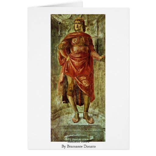 Héros antique par Bramante Donato Cartes