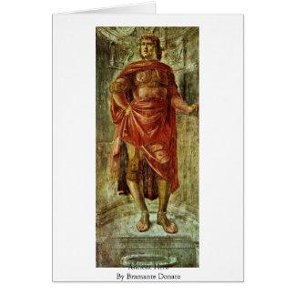Héros antique par Bramante Donato Carte De Vœux