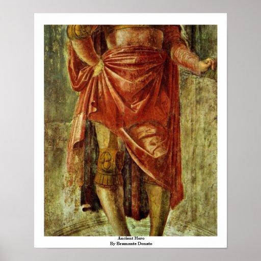 Héros antique par Bramante Donato Poster