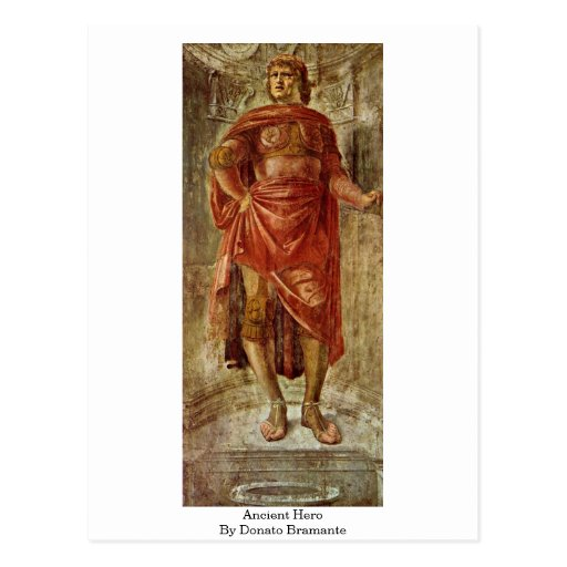 Héros antique par Donato Bramante Cartes Postales