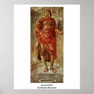 Héros antique par Donato Bramante Posters