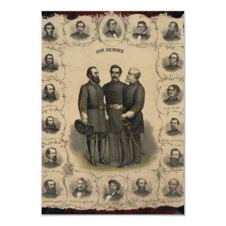 Héros de guerre civile carton d'invitation 8,89 cm x 12,70 cm